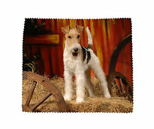 Fox Terrier (Wire) Microfibre Glasses Camera Phone Screen Cleaning Cloth