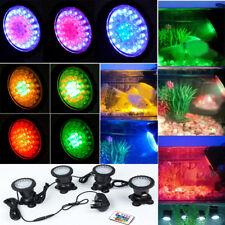 4PCS 36 LED Underwater RGB Spot Light for Aquarium Fish Tank Garden Pond Pool UK