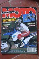 MOTO CRAMPONS N°34 HONDA 650 DOMINATOR SUZUKI DR 750 YAMAHA TY 250 R YZ 125 1987