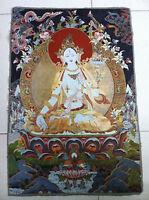 Tibet Nepal thangka tara buddha Kuan statue Guan Yin Exorcism peace wealth NER16