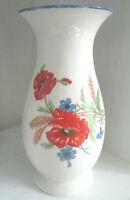 Vintage ★ DDR KERAMIK ★ große Vase ★ Marke VEB TORGAU ★ Motiv Wildblumen ★ 27 cm