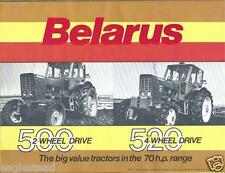 Farm Tractor Brochure - Belarus - 500 520   (F4029)