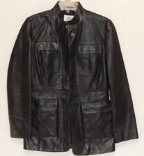 Armani Exchange Women's Leather Button Up Jacket Black Size X-Small (XS)