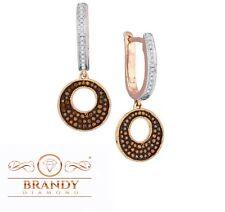 Brandy Diamond® Chocolate Brown 10K Rose Gold Halo Hoop Earrings .50 Ct