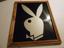 Vintage Playboy Plate Glass Panel/Bunny Logo Wall Art 18
