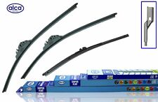 "VW Sharan 2010-ON Alca Super Flat Wiper Blades Front +Rear Flat SET 28""16""12"""