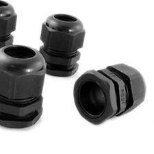 5 Pcs PG21 Black Plastic Waterproof Cable Glands Joints LW