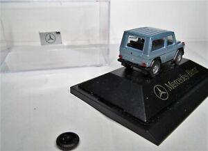 Herpa 1:87 Mercedes Benz G Klasse 300 GE W463 blausilbermetallic OVP siehe Text