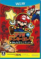 Mario vs. Donkey Kong everyone in the mini-land Wii U