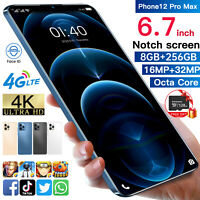 "4G Face ID 6.7"" Android 10.0 Unlocked Dual SIM 8+256GB+128GB TF Card SmartPhone"