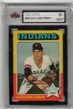 1975 Topps #530 Gaylord (Jackson) Perry Cleveland Indians KSA Graded 9
