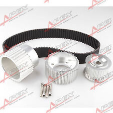 "For12A 13B 20B 15mm RX7 FD FC RX3 Gilmer Drive Pulley Kit 1.5"" Notch Belt Silver"