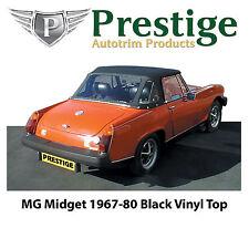 MG Midget / AH Sprite Black Vinyl Convertible Top Soft Top Tops 1967-1980