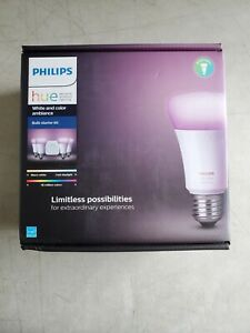 Philips Hue White and Color Ambiance E26 Bulb Starter Kit 548545 BRAND NEW