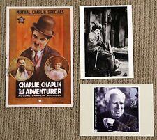 Postcards Lot of 3 Charles Charlie Chaplin The Gold Rush Adventurer