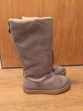STELLA MCCARTNEY Kids Grey Faux Fur Lined Flat Boots Size EU 31