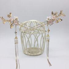 Retro Flower beads Tassel Hair Stick for Kimono Hanfu Party Cosplay