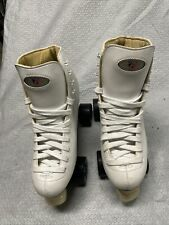 VINTAGE WOMANS WHITE RIEDELL ROLLER SKATES WHITE SIZE 7 FAST SAME DAY SHIPPING