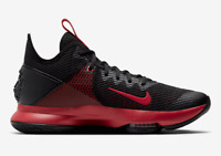 NEW SZ 6 Men Nike LeBron Witness IV 4 Bred Black/Red Basketball Shoes BV7427-006