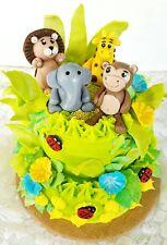 JUNGLE/SAFARI ANIMALS CAKE TOPPER FONDANT, ICING SUGAR, GUM PASTE BIRTHDAY PARTY