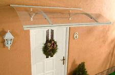Alu Haustürvordach Swing weiß 160 x 87 cm mit 4 mm Acrylglas Eindeckung