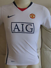 Manchester United - White Away Shirt - 2009/10 - Tevez 32 on back - Large Boys