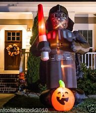 HALLOWEEN **9 FT STAR WARS DARTH VADOR W PUMPKIN AIRBLOWN INFLATABLE YARD DECOR