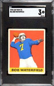 1948 Leaf Bob Waterfield #26 SGC 3 Rookie HOF