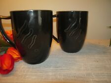 Spyro by Lenox - Black Coffee Mugs - set of 2  - DISCONTINUED PATTERN