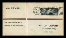 DR JIM STAMPS US COVER FIRST FLIGHT CAM 18 AIR MAIL MILWAUKEE BACKSTAMPS