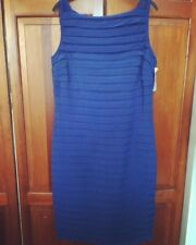 New! SCARLETT NITE Blue Bodycon Knee Length Shift Dress - Size 14 RRP£35