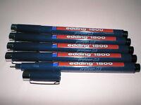 5x Edding 1800 0.3 Profipen ca. 0,35mm schwarz Faserzeichner Tuscheschreiber NEU