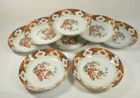 Set Of 8 Vtg Montgomery Ward Fine China Kyoto Ceramic Plate Bowl Soup 7 1/2''