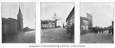 55 VAUX-DEVANT-DAMLOUP BOMBARDEMENT GUERRE WAR 14/18 ILLUSTRATION 1916