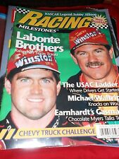 Great Collectible RACING MILESTONES Magazine-LABONTE BROTHERS May 1995