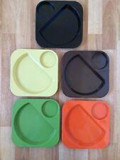 VINTAGE AMPAC SYDNEY PICNIC PLATES Retro 5piece Set Plastic