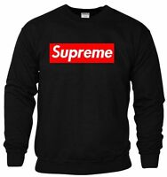 SUPREME BOX LOGO SWEATSHIRT JUMPER TOP GREY-WHITE-BLACK PULLOVER *HIGH QUALITY*