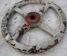 """Antique 10 1/4 inch Diameter Old Industrial OpenClose Valve Wheel """"Iowa"""""""