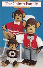 The Chimp Family, Annie's Crochet Pattern Booklet 8B023 Mama Papa Baby Monkeys