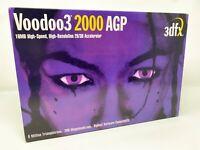3DFX Interactive VOODOO3 2000 16mb AGP VIDEO CARD Collectors Original Box