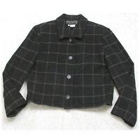 Harris Wallace Dress Jacket Coat Womens Womans Size Large Button Up Wool Acrylic