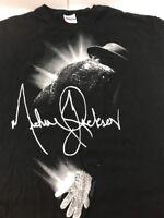 VTG Michael Jackson Graphic Signature T Shirt Size XL