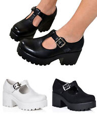 Block Leather Casual Strappy Heels for Women
