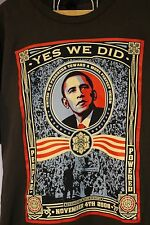 RARE Pro Barack Obama Artist Shepard Fairey Yes We Did T-Shirt OBey Size XL EUC