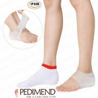 PEDIMEND Height Increase Silicone Gel Heel Socks (3PAIR) - For Plantar Fasciitis