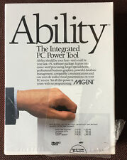 ABILITY vintage software SEALED BOX for vintage IBM PCs by Migent, very rare