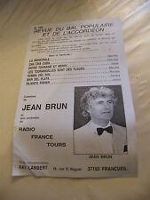 Partition Revue du Bal populaire et de l'Accordéon N°105 Jean Brun 7 Morceaux