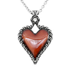 """HEART AND SKULL """"LOVE YOU TO DEATH"""" NECKLACE BY CONTROSE"""