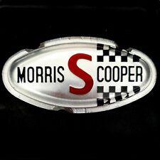 MORRIS MINI COOPER S MK2 FRONT BADGE INSERT- EMBOSSED- ALA6515