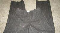 Ann Taylor LOFT gray plaid wool lined dress career trouser pants Size 4 Women